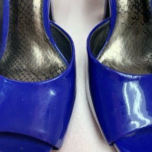 Jessica Simpson Shoes - Blue Patent Leather Jessica Simpson Heels